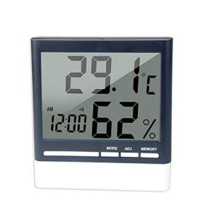 Multifonction Thermo-hygromètre Électronique,Thermomètre Hygromètre Intérieur Intérieur Digital Moniteur de Température Humidité Station Météo pour la Maison, Le Bureau, la Chambre de Bébé