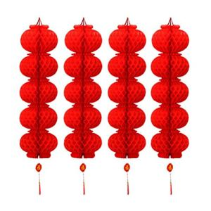 N/A/ Lot de 20 lanternes rouges en papier de style chinois – Décoration pour le Nouvel An chinois, festival de printemps et patio