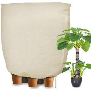 Namotu Housse de Protection pour Plante,Housse de Plante,240 * 200CM Housse de Protection Anti-Givre Non absorbante et Respirante Contre Le Vent d'hiver,pour Arbustes et Arbres Protégez (Beige)