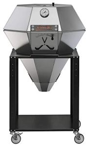 NEUMÄRKER Diamond Grill | Barbecue Kamado en acier inoxydable | Grill, cuisson lente, fumage et pâtisserie | Fabrication artisanale | avec douille et jeu de roulettes
