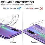 Oihxse Coque pour OnePlus 5T, Etui en Transparente Silicone TPU 3D Protection Bumper Ultra Mince Cristal Housse avec Motif Fille D'Ete Mer Anti Choc Cover (A8)