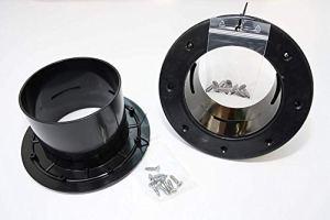 Osaga ABS 110 mm Passage de réservoir avec bride Noir