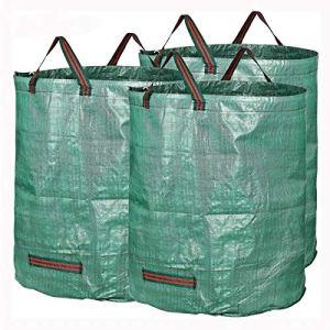 Ouqian Les Sacs de Culture de Jardin 3 Packs Jardin Sacs déchets 72 Gallons Direction Feuilles Collectionner Entretien ménager pour Les Amateurs de Jardinage (Couleur : Vert, Size : 83 x 65cm)