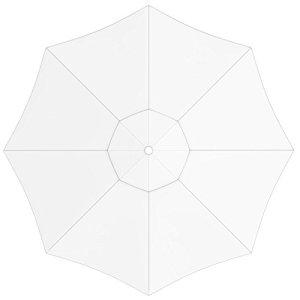 paramondo Toile de Rechange pour Parasol avec Air Vent pour Grand Parasol Paragrandi (5m / Ronde), Blanche