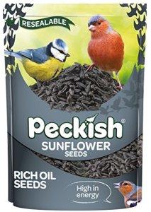 Peckish Graines de Tournesol pour Oiseaux Sauvages 1.25 kg Noir
