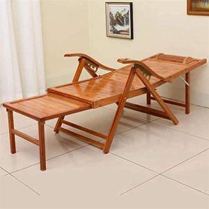 PIAOLING Poids léger Chaise Longue, Chaise Longue Pliable Jardin extérieure Casual Bamboo Chaise à Bascule, Chaise Pliante de Patio avec accoudoirs