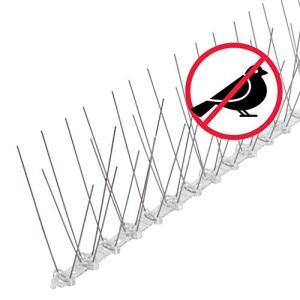 riijk Système Anti-Oiseaux, Anti-Pigeons et Anti-Corbeaux – 3 Mètres – Pré-assemblé – Acier Inoxydable