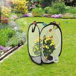 Ritte 1 Pièce Insectes Habitat Cage, Plante Habitat Cage, Cage Mesh Pliable pour L'habitat des Insectes, La Reproduction des Semis