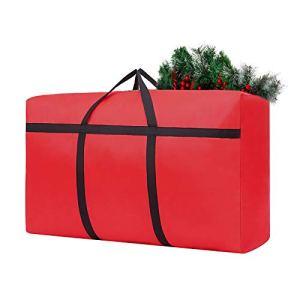 Sac de Rangement pour Sapin de Noël, Pliable Résistant À L'Humidité Conteneur Housse, Sécuriser Protègent, Oxford résistant à la déchirure, résistant à l'usure pour Rangement 53.4×35.6×16.5cm