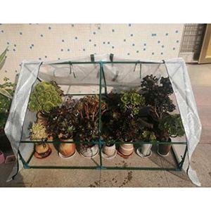 Serres Coupe-vent Résistant Au Froid Patio Abri D'isolation Utilisé Pour Plantation Des Légumes Tomate, 3 Tailles (Color : White, Size : 150x90x90cm)
