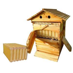 SJZC Bee Hive Nid d'abeilles Automatique Nid d'abeilles Ruche d'abeilles Automatique Ensemble Complet de Petites Villas pour Abeilles Cadre en nid d'abeilles Fini Outils de Jardin en Plein air