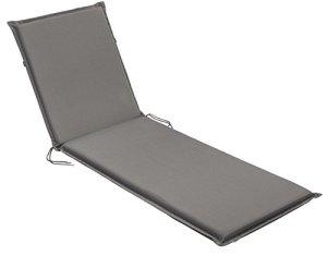 sleepling 193932 Coussins d'extérieur pour chaises Longues, 190 x 75 x 6 cm, Gris Anthracite