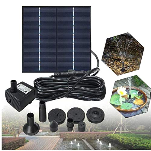 Solar Fountain Water Pump for Bird Bath 1.2W Solar Power Fountains Outdoor Fountain for Small Pond, Pool,Patio Garden