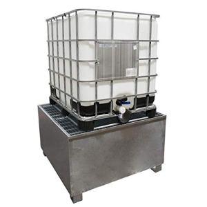 SSI Cuve de rétention en acier galvanisé pour 1 IBC 1000 litres