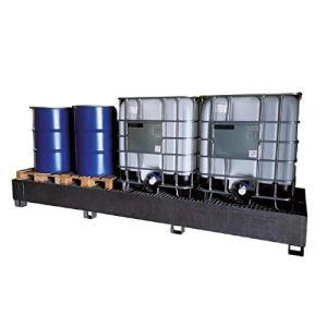 SSI Cuve de rétention en acier galvanisé pour 3 IBC 1000 litres