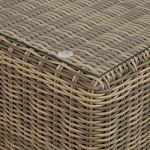 TecTake 800694 Bain de Soleil modulable en Canapé de Jardin 4 Places en Résine tressée et Aluminium – 5 dispositions possibles (Naturel | No. 403168)