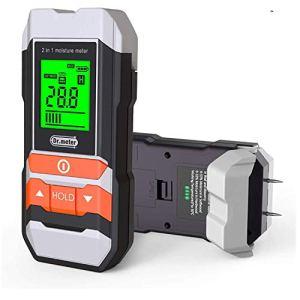 Testeur d'humidité murs,Dr.meter humidimetre 2 broches, écran LCD numérique HD avec 2 broches de rechange et une pile 9V