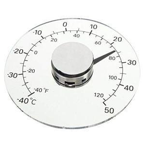 Thermomètre d'extérieur Accueil portes et fenêtres auto-adhésives sans plomb pour le thermomètre transparent imperméable à l'eau thermomètre sans pile coller la jauge de température pluviomètre