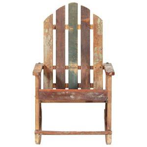 Tidyard Chaise à Bascule de Jardin Bois de récupération Solide