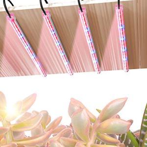 TOPLANET Lampe de Croissance, 40W Lampe pour Plante, 64 puces LED 4 niveaux dimmables Lampe Horticole avec 3H/6H/12H Timer, Grow Light à spectre rouge et bleu pour les plantes d'intérieur