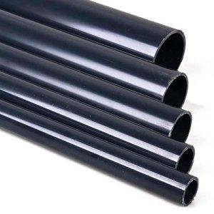 TP Gartenteich Tuyau pression en PVC sans manchon 1mètre 10et 16bar 25/32/40/50/63mm Pour bassin de jardin, aquariophilie, sanitaires, eaux usées 50 mm gris
