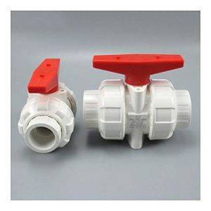 Tuyau Accessoires Accessoires de réparation 3pcs blanc 20 mm 25 mm 32 mm 40 mm 50 mm PVC Vanne à boisseau sphérique Union Valve PVC pipe à eau Plomberie Raccord de tuyau Raccords Slip Valve Shut