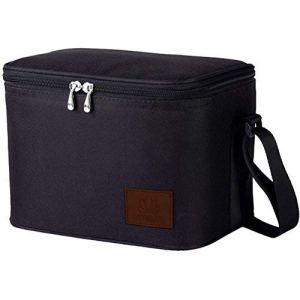 Umami Lunch Bag Isotherme | Sac Repas Portable | Glacière Souple 6L Grande Capacité | Convient Aux Adultes comme Aux Enfants | Noir