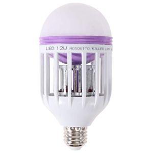 Uonlytech Zapper Lot de 2 ampoules LED électroniques Bug Zapper pour porche, extérieur, patio, chambre à coucher, cour (110 V)