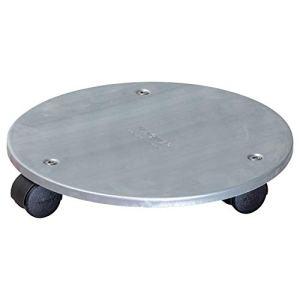 WAGNER Chariot de Plantes Steel Ø 30 x 5 cm | Porte Plante pour l'intérieur, argenté | Support Roulant de Pot en Acier Industriel Massif, galvanisé | Capacité de Charge 60 kg – 20006601