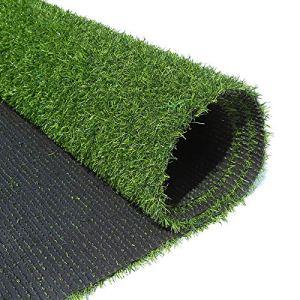 XEWNEGTZI Gazon Artificiel Vert 20mm, Faux Tapis De Tapis De Pelouse Antidérapant Et Facile à Nettoyer, Adapté à La Pose De Gazon en Terrasse De Jardin Extérieur, Largeur 2 M(Size:2×6M)