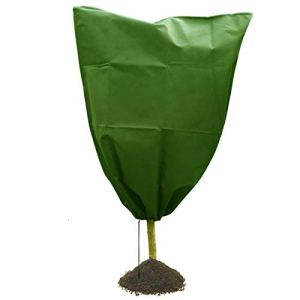 Yagosodee Housse de Protection Hivernale pour Plantes avec Cordon de Serrage Housse pour Plantes en Pot D'extérieur Réutilisable (Vert)