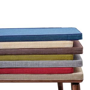 Yzzlh Coussin antidérapant pour banc 2 ou 3 places avec attache, matelas de remplacement pour siège de balancelle intérieur ou extérieur, 3 cm/5 cm d'épaisseur, lavable (bleu, 30 x 180 x 5 cm)