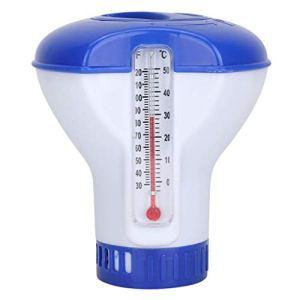 zhiwenCZW Distributeur de Chlore Chimique Flottant de Piscine de 5 Pouces avec désinfection de thermomètre Pompe d'applicateur Automatique Spa Spa Fournitures