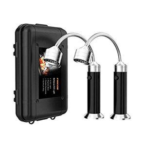 ZJL220 2 Pcs Barbecue Grill Light Base Magnétique 360 Degrés Flexible Col De Cygne Lumières