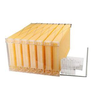 ZZQ 7 pcs Cadres de Ruche en Plastique de Ruche d'abeilles à Miel Automatique pour Outils d'apiculture Jardin de la Maison Choix