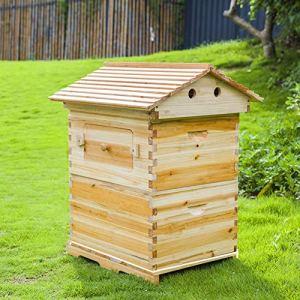 ZZQ Ruche en Bois de Ruche coulante complète Libre avec des Cadres automatiques pour l'apiculture de Jardin