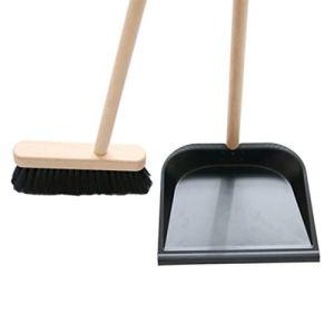 zZZ Balai et Poubelle Set Ménage Long poignée de Nettoyage Combinaison de Cheveux Soft Hair Broom Hair Artefact Convient à la Chambre et au Salon