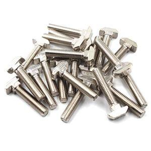 4545 T Boulon de vis Boulon Outil de fermeture pour T-slotted Aluminium Profilé en acier carbone M8x20 (Pack de 20)