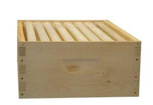 8-Frame assemblé Miel Super Kit, Bois, Cadres, Made in The USA