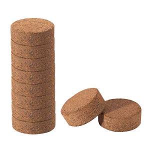 æ— Lot de 50 disques en fibre de coco compressée pour pot de fleurs, herbes, légumes
