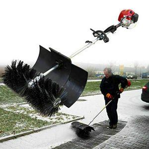 Balayeuse à essence 52 cm3, chasse-neige à essence 1700 W, balayeuse à moteur 2 temps, fraise à neige, largeur de balai 60 cm