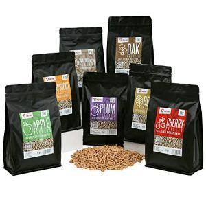 BBQ-Toro Ensemble de pellets en 100% Bois | Choix de 7 Types à 1 kg | Pellets à Fumer pour Grill, fumoir, Four à Pizza à pellets et systèmes de Chauffage | Pellets à Grille