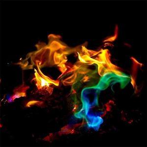 Bireegoo Lot de 2 poudres à flamme colorée changeant de couleur (25 g + 15 g).