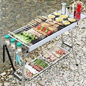 Bluting Barbecue Portable,Grill Barbecue ExtéRieur De Table,pour Barbecue De Jardin ExtéRieur Camping pour 3-10 Personnes,A