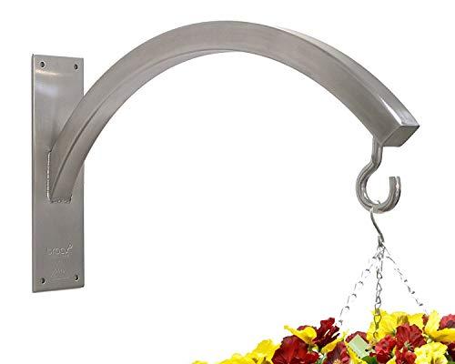 Braax Hangtec Arch HT-3A09 – Support Mural en Acier Inoxydable pour Paniers, Mangeoires à Oiseaux, Boules Topiaires, Éclairage, Lanternes, Carillons ou Autre