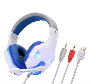 Casque Gaming Durable tête réglable monté Ordinateur Accessoires Lumineux Casque PS4 Gaming Headset