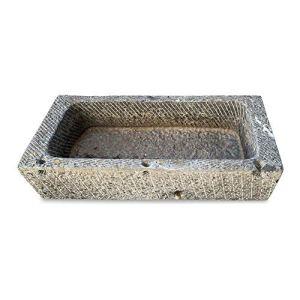 CBAM Baignoire de jardin en pierre naturelle pour plantes fontaine, extérieur, extérieur Natural Stone Tub L.160 cm