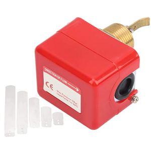 Commutateur de débit, commutateur de débit cible Commutateur de débit d'eau cible, 10 bars pour climatisation centrale Unités refroidies par eau Ac220V 15A Systèmes de traitement de l'eau