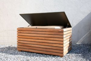 Conmoto Forte Coffre en bois de cambala 64 x 130 x 72 cm