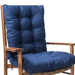 Coussin de dossier haut pour chaise berçante, coussins de siège de chaise longue d'été Coussin de dossier bas pour coussin de chaise berçante Coussin inclinable épaissir coussin de siège arrière